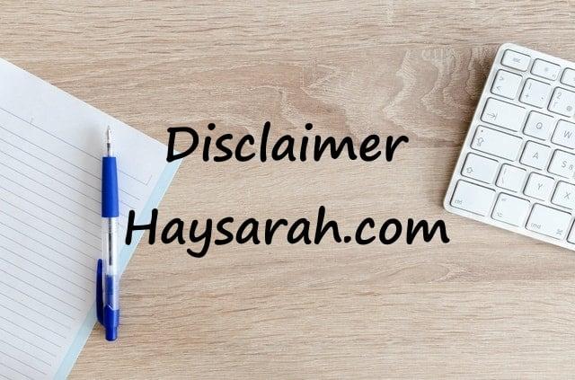 Disclaimer Haysarah.com