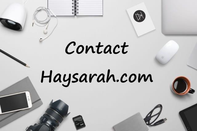 contact haysarah.com